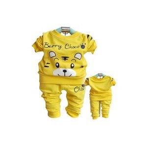 Комплект AliExpress 2013 children's clothing male female child autumn new arrival cotton sweatshirt long-sleeve baby trousers tiger head set 0318 фото