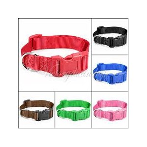 Ошейник Aliexpress New Colorful S M L Size Adjustable Harness Nylon Belt Spring Snap Buckle Pet Dog Cat Leash Collars Free Shipping фото