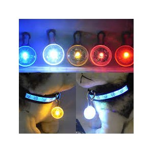"Светодиодная подсветка Aliexpress M112""8 Colors LED Flasher Blinker Buckle Clip Pet Luminous Pendant Circular Light фото"