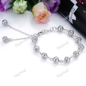 Браслет Tinydeal Trendy Hollow-out Viballs Style Decorated Bangle Bracelet Brace Lace Handchain for Women Ladies NAF-110108 фото