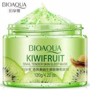Ночная маска для лица Bioaqua Kiwifruit Snail tender skin sleep mask фото