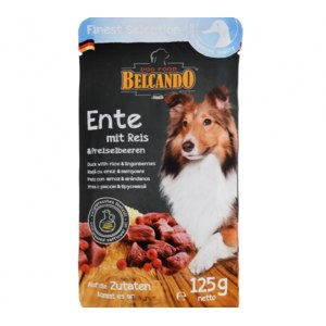 Консервированный корм для собак Belcando утка с рисом и брусникой фото