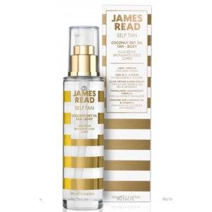 Сухое масло для лица и тела с эффектом загара James Read кокосовое / Coconut Dry Oil Tan Body  фото