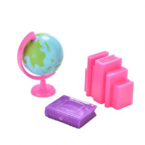 Aliexpress 3 Pcs/set Plastic Globe Books Accessories for Dollhouse Miniature Doll House Decoration Toy Gift 11''Accessory фото