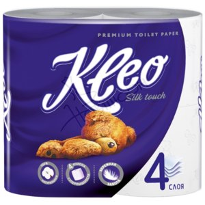 Туалетная бумага Kleo silk touch 4х-слойная фото