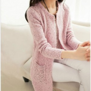 Кардиган AliExpress OLGOTUM 2017 New Spring&Autumn Women Casual Long Sleeve Knitted Cardigans Autumn Crochet Ladies Sweaters Fashion Women Cardigan фото