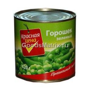 Горошек зеленый консервированный Красная цена  фото