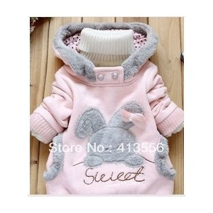 Толстовка AliExpress Children's clothing 2013 new arrivel Rabbit pattern sweater cute Fall and winter coat ok307 фото