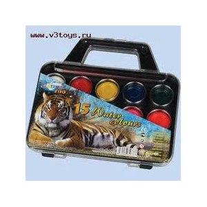Краски Center Zoo для рисовании 15 цветов фото