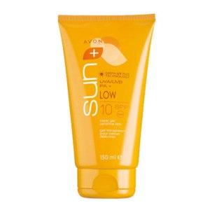 Солнцезащитный крем Avon Солнцезащитный гель для чувствительной кожи SPF 10. Avon Sun.  фото