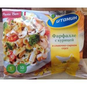 Полуфабрикаты Мираторг Фарфалле с курицей в сливочно-сырном соусе Vитамин фото