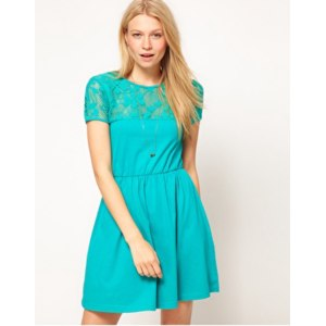 Платье летнее ASOS Skater Dress With Lace Top, product code - 210344 фото