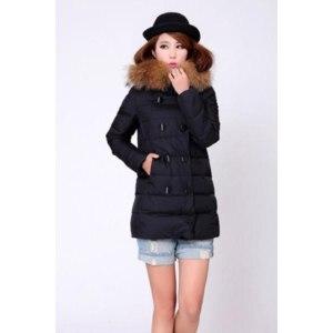 Куртка AliExpress Women's winter duck fur collar medium-long down jacket outerwear фото