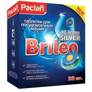 Таблетки для посудомоечной машины PACLAN Brileo All in One SILVER фото