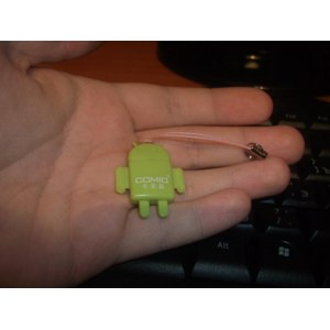 Устройство чтения карт памяти TinyDeal Карт ридер - Android Robot Style USB 2.0 High Speed Transmission Micro SD/ T-Flash Card Reader with String CCR-90056  фото