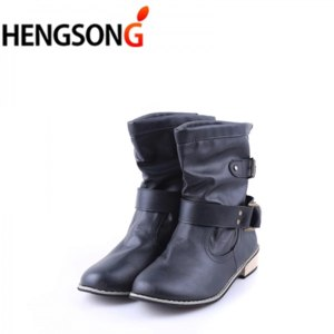 Полусапоги женские Aliexpress Brand artificial leather motorbikes biker shoes for women  фото