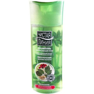 Шампунь Чистая линия Женьшень для ослабленных и секущихся волос фото