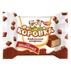 Конфеты Рот Фронт Коровка вафельная фото