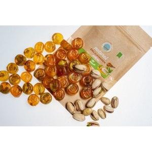 Конфеты натуральные Savalan Natural HARD Candies с фисташками фото