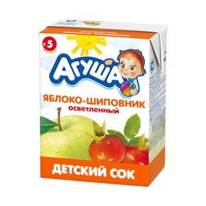 Сок Агуша Яблоко-шиповник осветленный фото