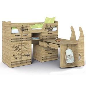 Кровать - Чердак Сканд-мебель Корсар-1 фото