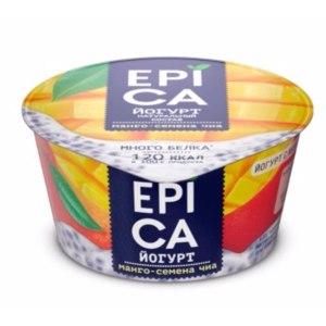 Йогурт Epica манго - семена чиа  фото
