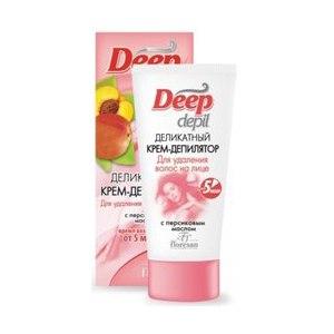 Крем для депиляции Floresan Deep depil деликатный крем-депилятор для удаления волос на лице с персиковым маслом фото