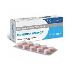 """Средства д/лечения простуды и гриппа Dr. Reddy's """"Ибуклин"""" Юниор фото"""