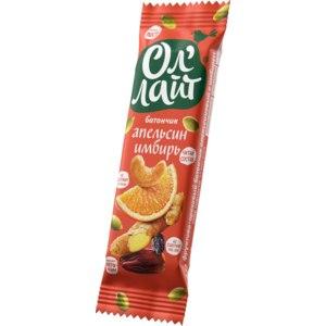 Батончик Ол Лайт фруктово-ореховый апельсиновый с имбирем фото