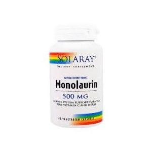 БАД Solaray, Монолаурин, 500 мг, 60 вегетарианских капсул фото