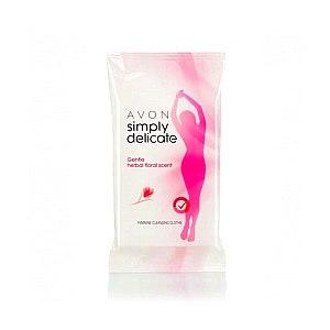 Влажные салфетки Avon Simply Delicate Очищающие салфетки для женской интимной гигиены фото