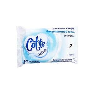 Влажные салфетки для интимной гигиены Cotte фото