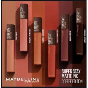 Жидкая матовая помада MAYBELLINE  Super Stay Matte Ink Coffe Edition фото
