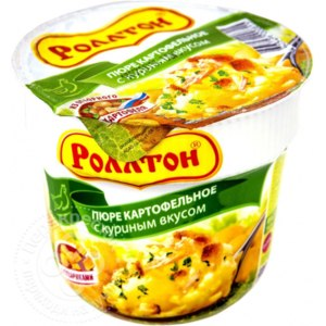 Картофельное пюре быстрого приготовления Роллтон с куриным вкусом фото