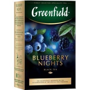 Чай  Гринфилд (Greenfield) Blueberry nights (черника) фото