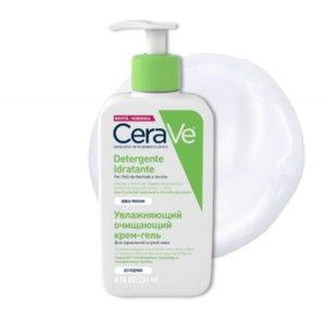 Увлажняющий очищающий крем-гель CeraVe для нормальной и сухой кожи фото