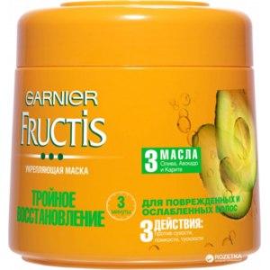 Маска для волос Garnier Fructis Тройное восстановление Масло оливы, авокадо, карите фото
