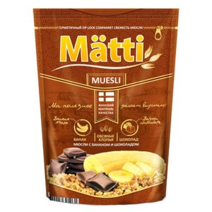 Мюсли Matti С бананом и шоколадом фото