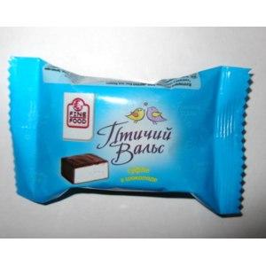 Конфеты Fine Food Суфле в шоколаде Птичий Вальс со вкусом пломбира фото