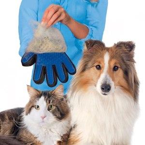 Перчатка для вычесывания шерсти для собак и кошек Deshedding фото