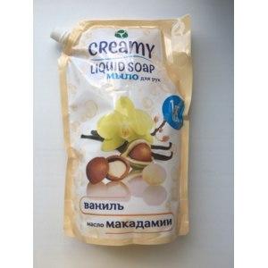 Жидкое мыло для рук Creamy Liquid Soap Ваниль и масло макадамии фото