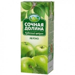 Нектар Южная соковая компания Сочная долина яблоко фото