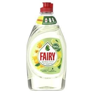 Средство для мытья посуды Fairy Pure & Clean Натуральные ароматы. Бергамот и имбирь фото