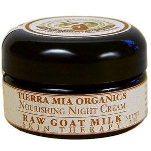 Ночной крем Tierra Mia Organics, Лечебное средство для кожи с сырым козьим молоком, питательный ночной крем, 2 унции  Tierra Mia Organics, Nourishing Night Cream  фото