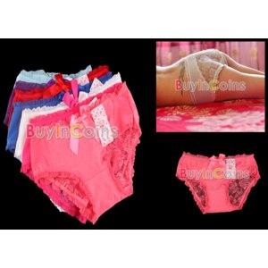 Трусы Buyincoins 5Pc Sexy Lace Cozy Lingerie Panties Briefs Underwear фото