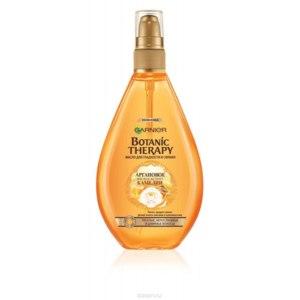 Масло для ухода за волосами Garnier Botanic Therapy. Аргановое масло и экстракт камелии для тусклых и непослушных волос,150 мл фото