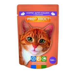Корм Pro хвост для кошек с кроликом  фото