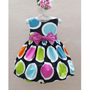 Платье AliExpress QZ-302. New style!!children dresses beautiful girls bow princess dress girl summer dress Wholesale and Retail фото