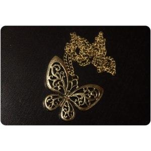 Цепочка с кулоном Ebay Бронзовая бабочка  long pendant butterfly  фото