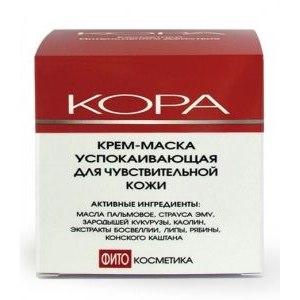 Крем-маска для лица Кора Крем-маска успокаивающая для чувствительной кожи фото